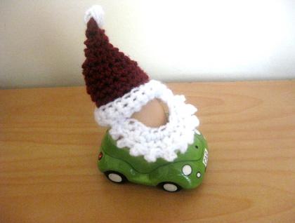 Santa and Elf Egg Cosy Hats