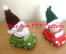 PDF PATTERN ONLY Santa and Elf Hat Egg Cosies