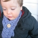 Unisex Button-up Baby Scarf in Crochet Basket Stitch