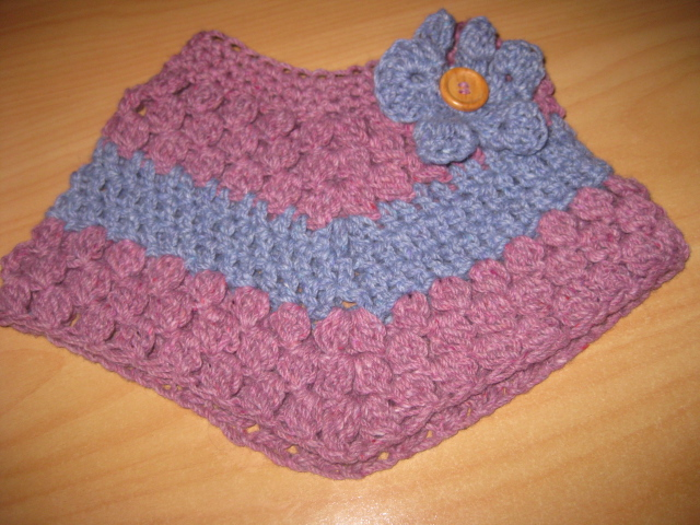 Free Crochet Pattern For A Baby Cowgirl Outfit : PDF PATTERN ONLY Baby/Toddler Crochet Cluster Poncho Felt