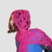 CLEARANCE Magenta Hooded Scarf in Lovely Light NZ Wool and Mohair Blend Wool