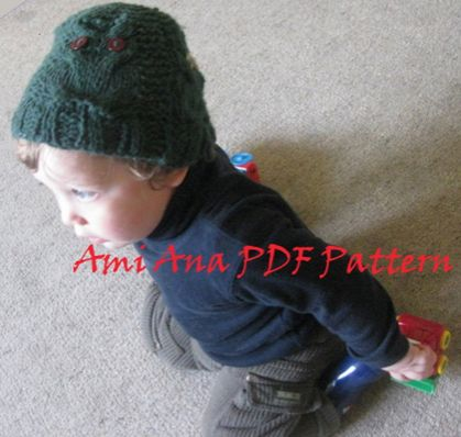 PDF PATTERN ONLY OWL be plenty toasty in this Hat, Unisex