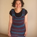 Snug Purple and Turquoise striped tunic overdress OAK