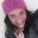 Luscious NZ Merino, Kid Mohair and Silk  Blend Wool Rose Beanie in Candy Pink - Discounted
