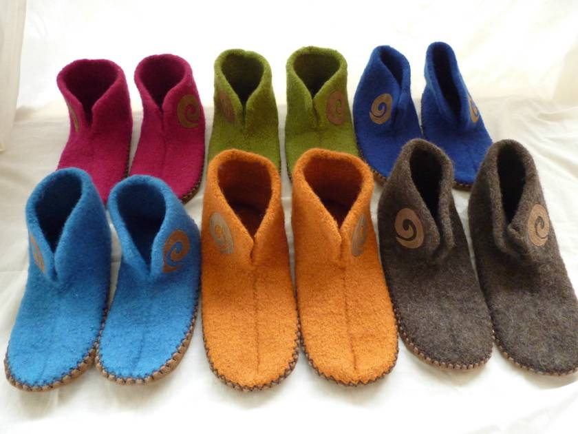 handmade felted slippers lady's sizes