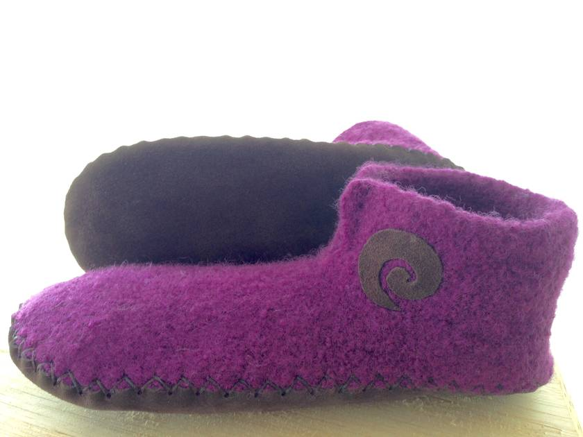 handmade felted slippers children's sizes