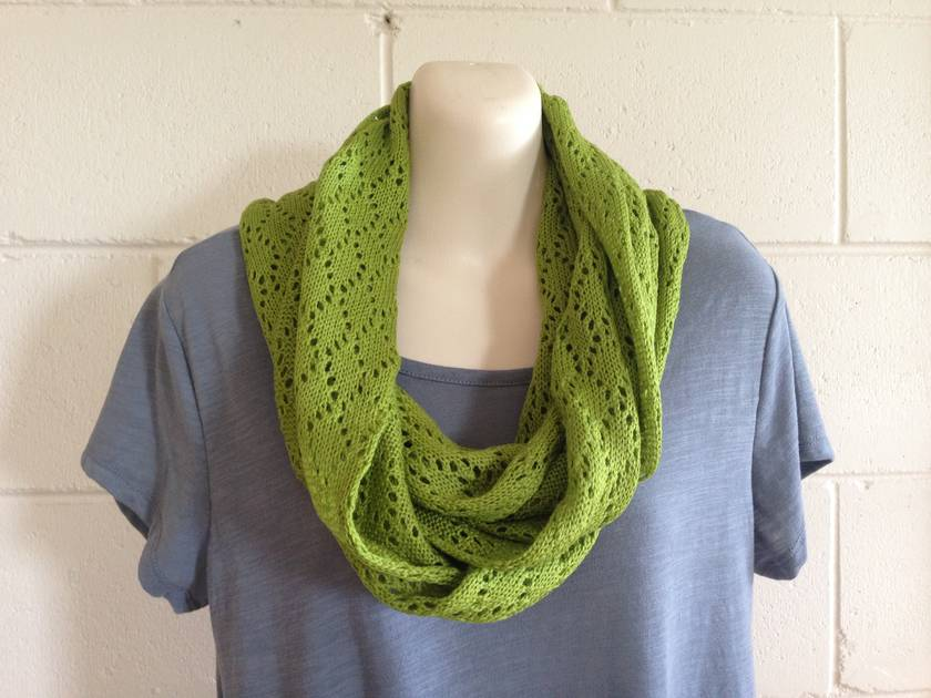 Merino infinity lace scarf
