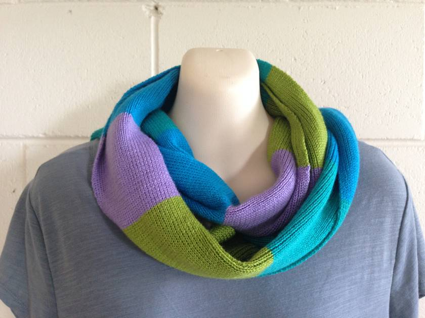 Merino block colour scarf
