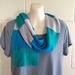 Merino block colour scarf