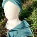 Combo headband and wrist warmers, possum/merino/silk