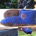 Men's size handmade felted slippers