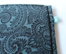 Black Paisley Kindle Pouch