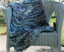 Shades of Blue Cotton Rag Rug