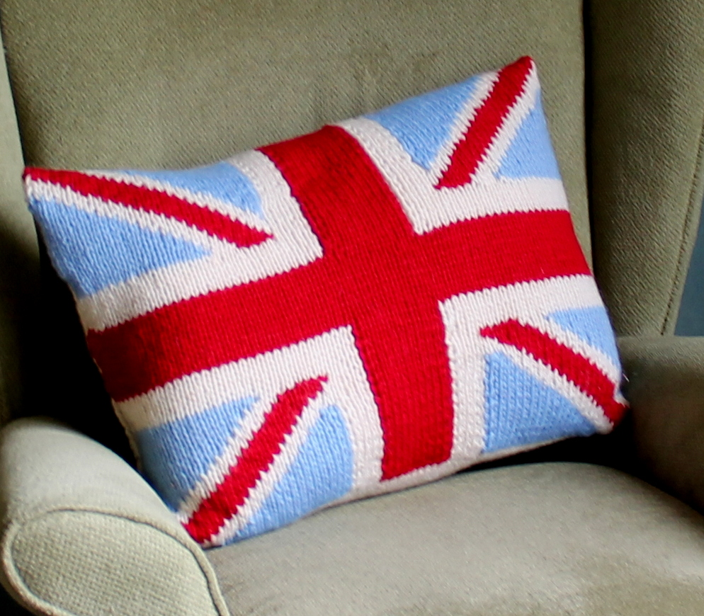 Knitting Pattern Union Jack Cushion Cover : Union Jack Cushion Felt