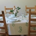Fantail Tablecloth Calico and Green