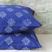 Royal Blue and White Moroccan - Cotton Pillowcases