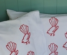 Red Fantail Pillowcases - Pair