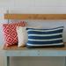 Blue and Cream Striped Cushion