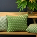 Green and Cream Trellis Cushion