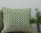 Cross and Trellis Cushion