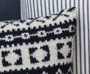 Blue Fair Isle Cushion