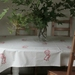 Red Fantail Tablecloth