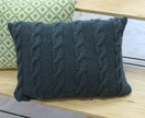 Dusky Blue Aran Cushion