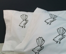 Charcoal Fantail Pillowcases - Pair