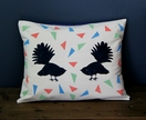Cushion - Hector and Horace the Fantails - Cotton cushion