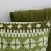 Green Fairisle Cushion