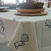 Navy Fantail - Tablecloth
