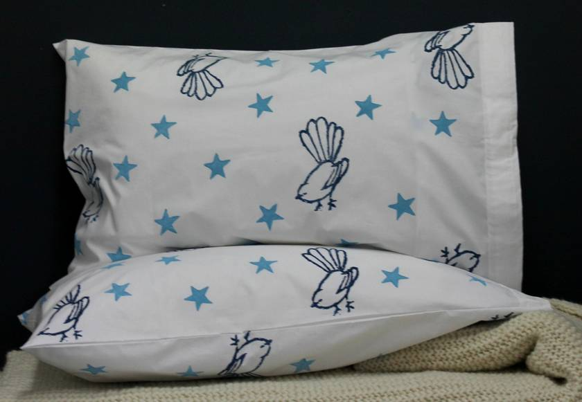 Star and Fantail Pillowcases - Pair