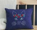 Flower Power Cat - Cushion
