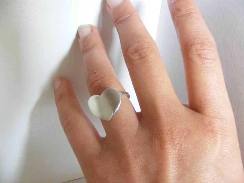 AROHA <3 LOVE STATEMENT <3 HEART RING <3 Sterling Silver <3 Handmade<3