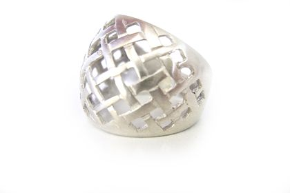 Xmas OFFER 25% DISCOUNT STORE WIDE 'Flax woven' Sterling Silver Ring