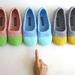 Crochet Slippers for Women in Mint & Sky Blue
