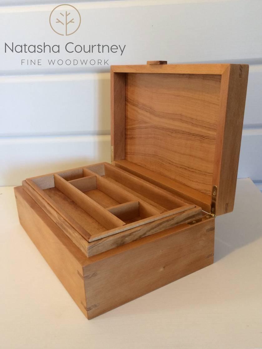 Kauri & Black Maire Jewellery Box