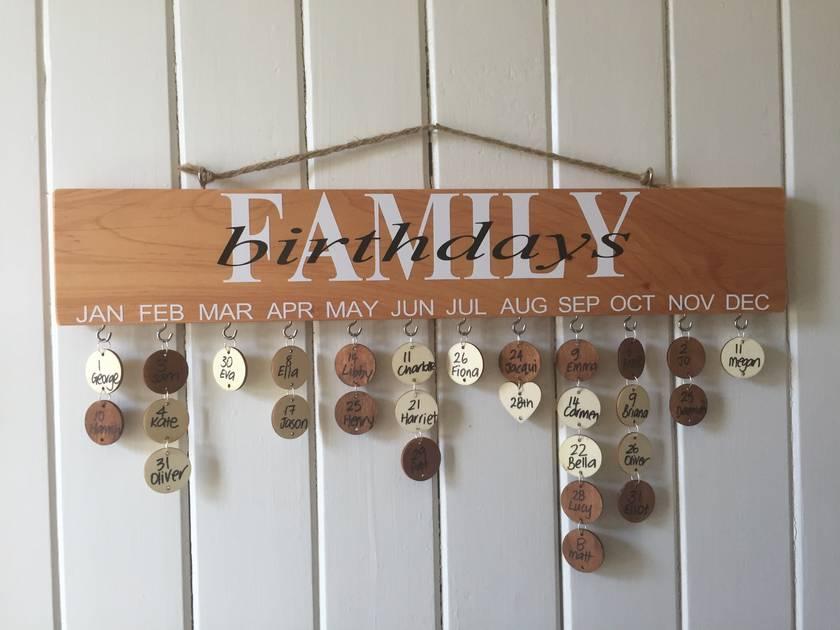 Wooden Birthday Board