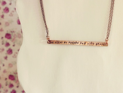 Lorde lyric // Copper necklace // Custom hand stamped // Made to order
