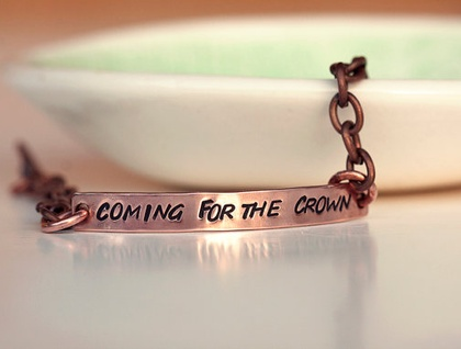 Custom copper bracelet // Lyric or quote of your choice // Personalised // Hand stamped for you