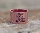 Copper ring // Lorde lyric // Handstamped to order