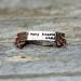 Copper bracelet // Poem // 10mm tall // Kim Addonizio // Newsprint style font