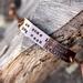 Copper bracelet // Janelle Monáe quote // 10mm tall // Newsprint style font