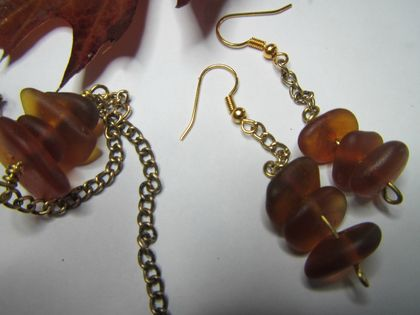 Autumn Amber necklace and earring set