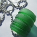 Recycled  green bottle top necklace