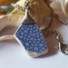 Blue and White found pottery necklace