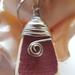 Crazed glaze maroon  found pottery necklace