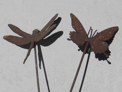 Kiwiana Garden Art MOTH & DRAGONFLIES