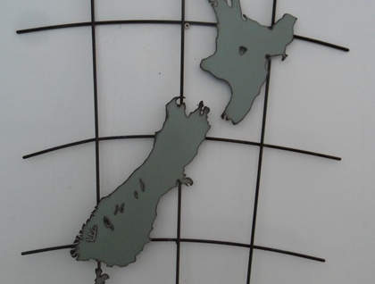 Kiwiana Garden Art NZ MAP