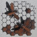 Kiwiana Garden Art Honeycomb with Bees